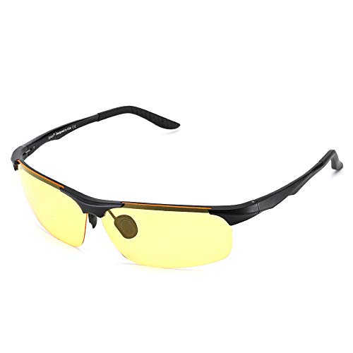 Cyxus Blaulichtfilter Brille Herren/Damen【Design für Spieler】 UV400 Schutzbrille, Blue Light Filter Glasses, Gaming Brille für Computer Handy PC (Gelb 8011)