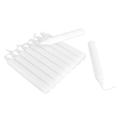 ewtshop® 30 weiße Kerzen, Höhe 11,5 cm, 12,5 mm Durchmesser, für Geburtstagszug, Kindergeburtstag, Feiern, Festivitäten, Weihnachtsbaum