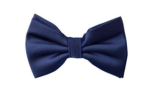 Fabio Farini - Cravates à nœud papillon au design unique et brillant pour les occasions festives telles que le mariage, la confirmation, la communion, la confirmation, le bal Structure bleu foncé