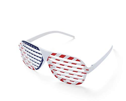 Komonee Tonos deBandera americana de estados unidos neónciegos Divertidos gafas de sol de fiesta plásticas