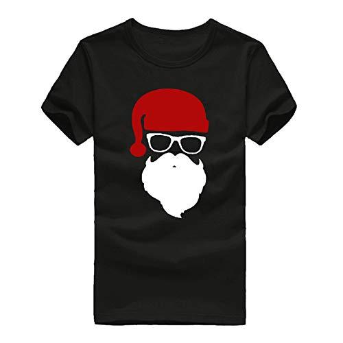 Camisetas Hombre Lanskirt Camisas de Manga Corta con Cuello Redondo y Estampado Smiley Tops de Verano Elegante Polos de BáSica Camiseta para Hombres Diario 3XL