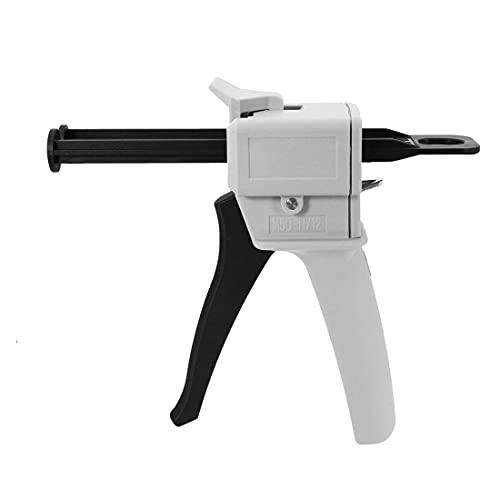 Dispenser Conveyor Gun 50ml,Adhesive Dispensing Mixer, Manual Dual Cartridge Applicator AB Gun 1:1/2:1 Ratio