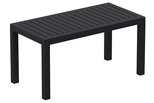 Table Lounge Ocean - Table de Jardin Résistante aux Intempéries et aux Rayons UV - Table de Terrasse ou Véranda en Plastique Solide - Coul, Couleurs:Noir