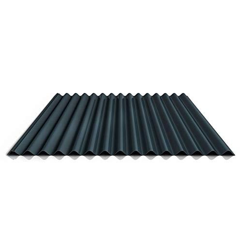 Wellblech | Profilblech | Dachblech | Profil PS18/1064CR | Material Stahl | Stärke 0,50 mm | Beschichtung 25 µm | Farbe Anthrazitgrau