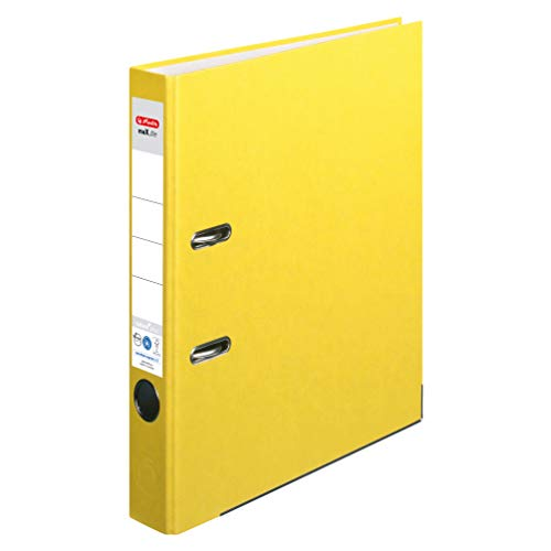 Preisvergleich Produktbild Herlitz Ordner maX.file nature plus,  Spezialpapierbezug,  Kantenschutz,  standfest,  A4 5 cm