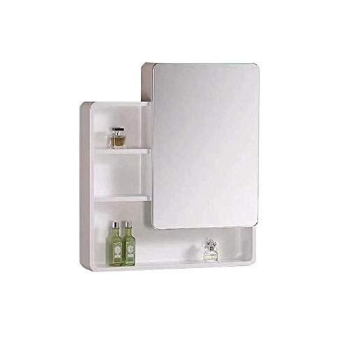 Haushaltsprodukte Lagerschränke Badezimmer Wandspiegelschrank mit Einzeltüren und verstellbarem Regal Medizinschrank aus Holz Mehrzweck-Aufbewahrungsorganisator Küchenschrank (Größe: 60 * 80 cm)