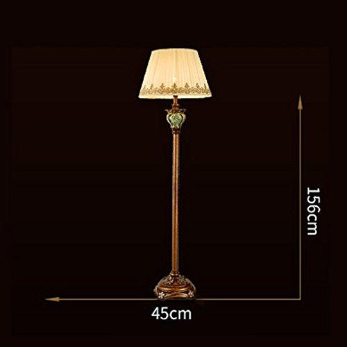 NA Home staande lamp, staande lezing, creatieve Europese stijl retro vloerlamp woonkamer Amerikaanse stijl landelijke studie klassieke slaapkamer staande lamp en lantaarns oogbescherming V