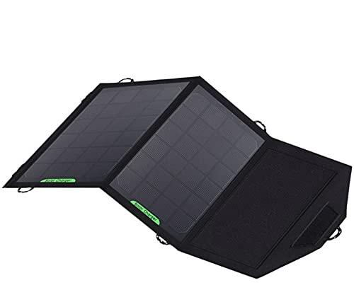 sZeao 8W Cargador Panel Solar Plegable Impermeable Portátil Panel Solar Powerport Solar con Salida DC Dual De Los Puertos USB para Computadora Portátil, Tableta para iPad, iPhone Cámara