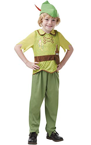 Rubies- Peter Pan Disfraz Infantil, Multicolor, S (3-4 años) (641191S)