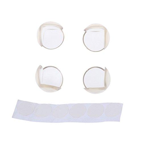 Dabixx Bureautafel, hoekbeschermer, kussen, 4 stuks, 28 x 28 x 28 mm
