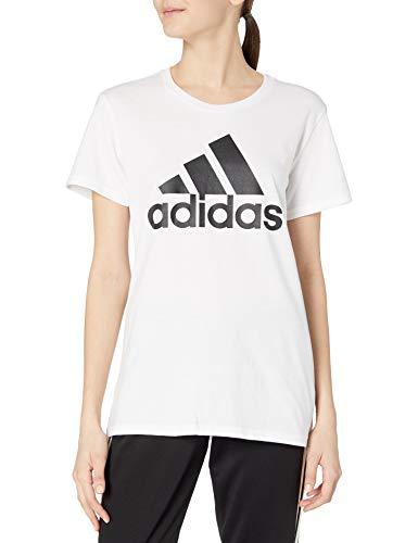 Adidas Basic Badge of Sport Tee, White/Black, Large