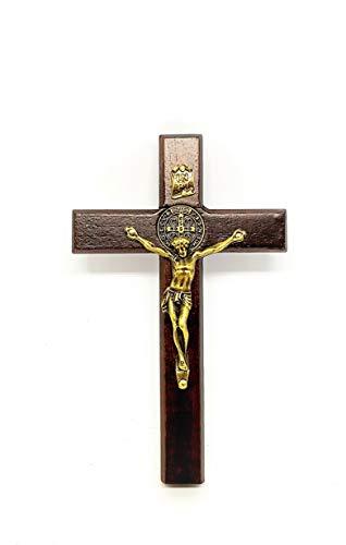 Crucifixo de São Bento de porta e parede 12 cm (Cruz de Libertação)