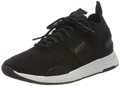 BOSS Titanium_Runn_knst1, Zapatillas Hombre, Black7, 42 EU