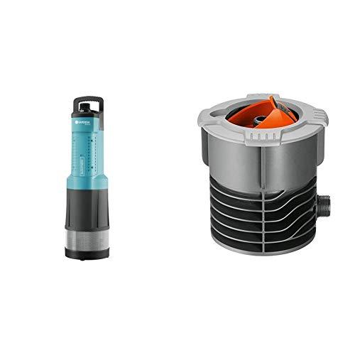 GARDENA Comfort Tauch-Druckpumpe 6000/5 automatic: Tauchpumpe mit 6.000 l/h Fördermenge & Sprinklersystem Anschlussdose: Systemanfang von Pipeline und Sprinklersystem, mit 3/4