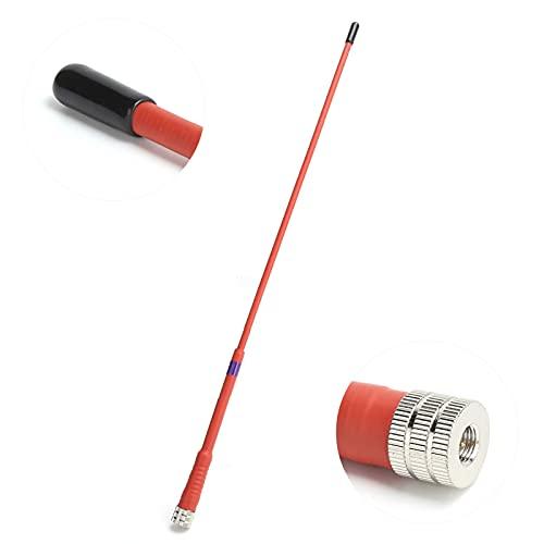 Antena de Alta Ganancia, Antena Blanda de Mano 136-174 MHz Frecuencia de Funcionamiento para Garmin GPS Astro 430320900220 / Alpha 50100(Rojo)