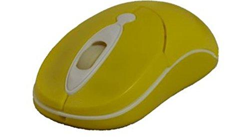 Primux Tech M505Y - Ratón óptico USB, amarillo