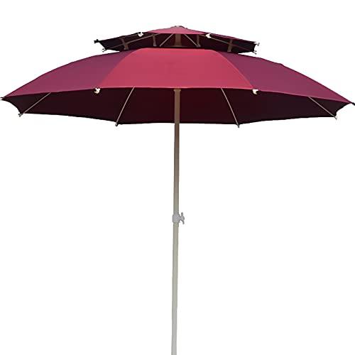 Sombrillas para Patio 7 pies Paraguas de mesa al aire libre Sombrilla de patio con Ventilación de viento, Paraguas de mercado por Jardín/ Patio interior/ Piscina, 3 capas Costillas a prueba de viento