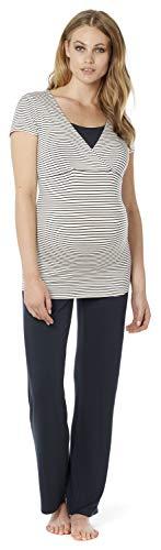 Noppies Schlafanzug Samira / 2 in 1 Umstandsschlafanzug Sleep Shirt + Hose Pyjama Nachtwäsche Still- Pyjama