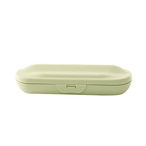 szlsl88 Tandenborstel geval afdekking reizen draagbare bescherming home snap-on outdoor accessoires tandpasta gezondheid badkamer opbergdoos elektrisch (Nordic Blue)