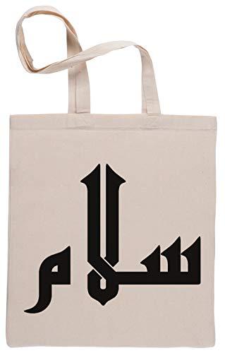 Salam - Paz en Arábica Bolsa De Compras Shopping Bag Beige