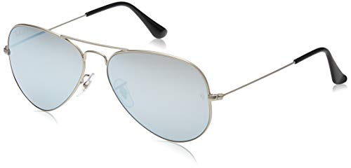 Ray-Ban RB3025 Aviator Occhiali da Sole Unisex Adulto, Argento, 58 mm