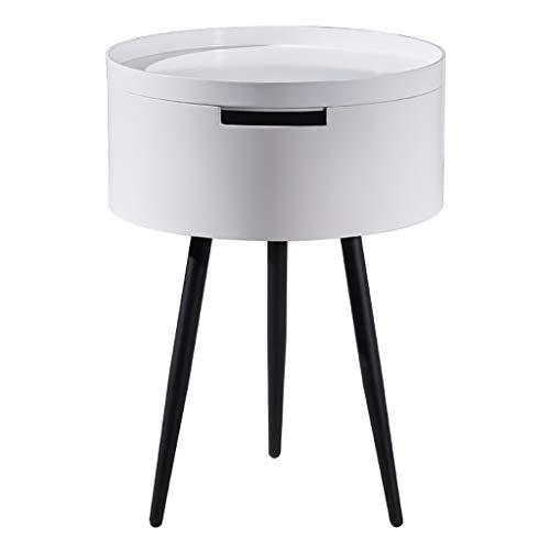 YWXCJ Tables Basses Table de Coin Salon Rond Table de téléphone Petite Table Ronde Table Basse Table d'appoint canapé canapé Petite Table Ronde (Couleur : Blanc)