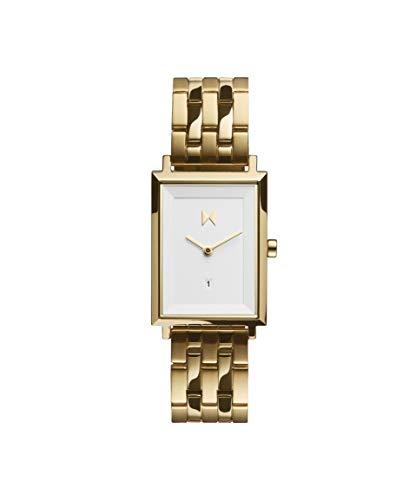 MVMT Damen Analog Quarz Uhr mit Edelstahl Armband D-MF03-G