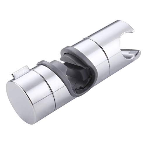 Aischens Doccia Supporto Staffa, 18-25 mm ABS Regolabile Ricambio Staffa Supporto Doccia, Rotazione di 360 Gradi per Barra Per Saliscendi con Finitura Cromata
