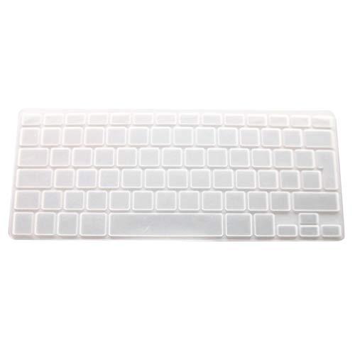 Solustre Piel del Teclado Película Protectora del Teclado Protector de Teclado de Silicona Transparente Piel de La Cubierta para Macbook Pro/Air (13 Pulgadas)