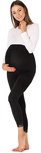 Be Mammy Mallas Leggins Premamá 7/8 BE20-262(Negro,XL)