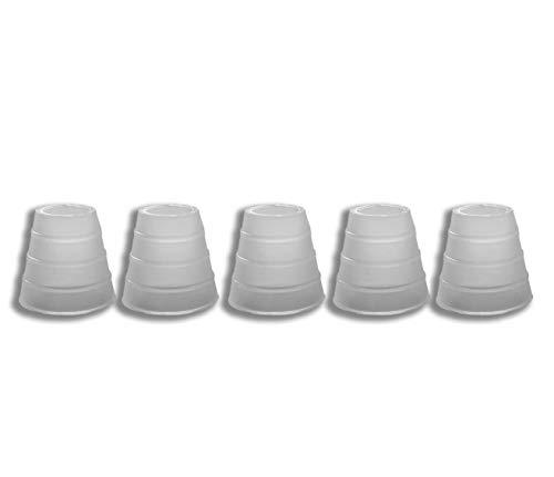 ROFOR Schlauchdichtung | 5 Stück | Gummidichtung | Silikon | Luftdicht | optimaler Luftdurchzug | Weiß | Universal Schlauch Dichtung