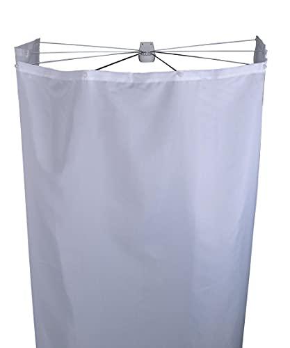 RIDDER Ersatzduschvorhang Textil Ombrella weiß 210x180 cm