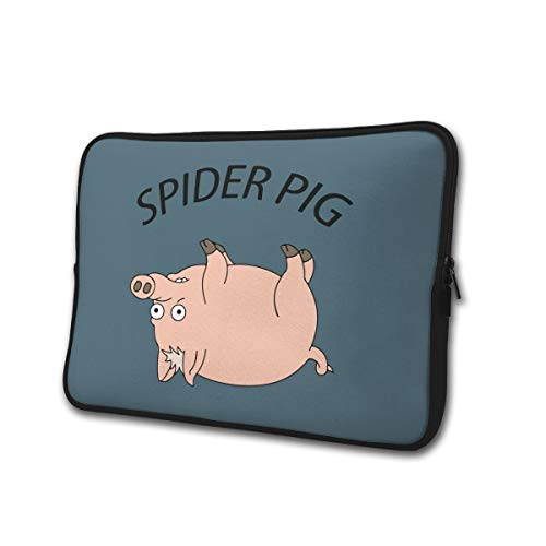 Yongchuang Feng Spider Pig Sleeve Laptop Bag Tablet Case Handbag Notebook Messenger Bag for Ipad Air MacBook Pro Computer Ultrabook 13-15 Inches