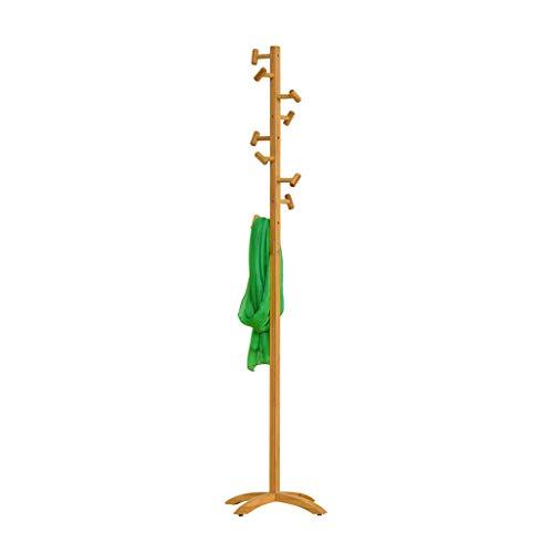 Râteliers multi-usages Porte-Manteau vêtements Rack étage Solide cintres en Bois cintres Simples vêtements de Chambre Suspendus étagères de Mode Casiers (Color : Beige, Size : 45 * 45 * 175cm)