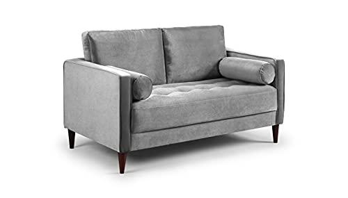 Honeypot - Harper - Sofa - 4 Seater - 3 Seater - 2 Seater - Armchair - Blue - Beige - Plush Grey - Green - Plush Velvet (2 Seater, Grey)