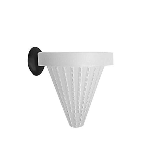 HenShiXin Planted Fish Food Basket Cone Feeder with Sucker Live Worm Bloodworm Feed Tool for Aquarium Tank Tanks (Color : As pic, Size : Small)
