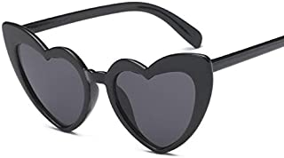 Heart-Shaped Sunglasses Women Black Heart Shape Sun Glasses