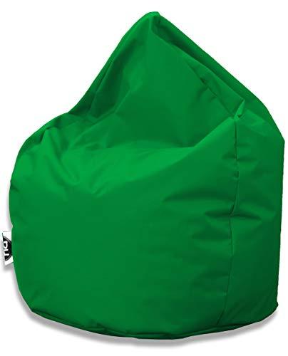 Patchhome Sitzsack Tropfenform - 3 Größen - 25 Farben XXL - Höhe 115cm, Durchmesser 95cm Grün