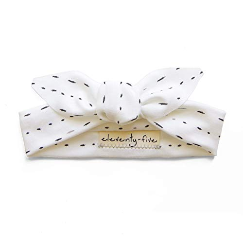 Organic Knotted Adjustable Headbands for Baby Girls - Dashes
