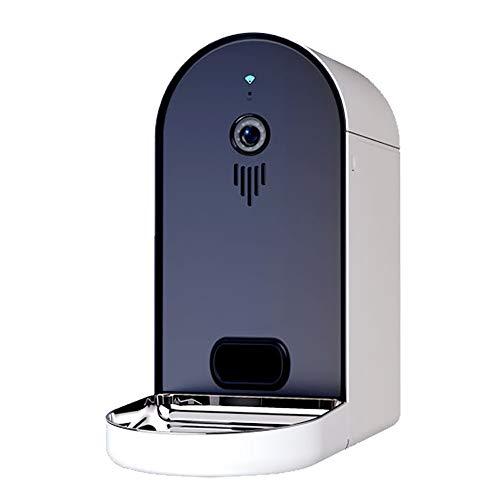 WLDOCA Automatischer Futterautomat mit Kamera und Audioübertragung, Smarter 6L WLAN Futterspender für Trockenfutter, App, Lautsprecher und Mikrofon, Futternapf für Hunde, Katzen,Darkblue