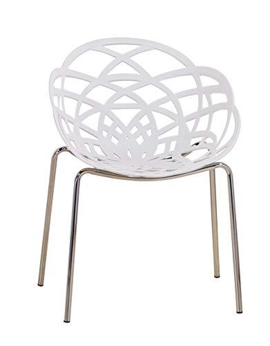 Euro Tische Esszimmerstühle modern, stilvoll & bequem - perfekt geeignet im Esszimmer, Wohnzimmer & Küche - (Weiß, 1x...