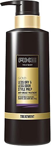 アックス ゴールド 男性用 ヘア トリートメント ポンプ (臭いを忘れて、ずっと香る) 350g