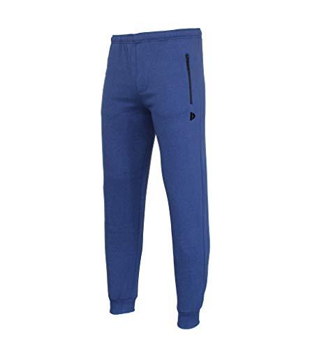 Donnay heren joggingbroek met ritssluiting blauw maat M