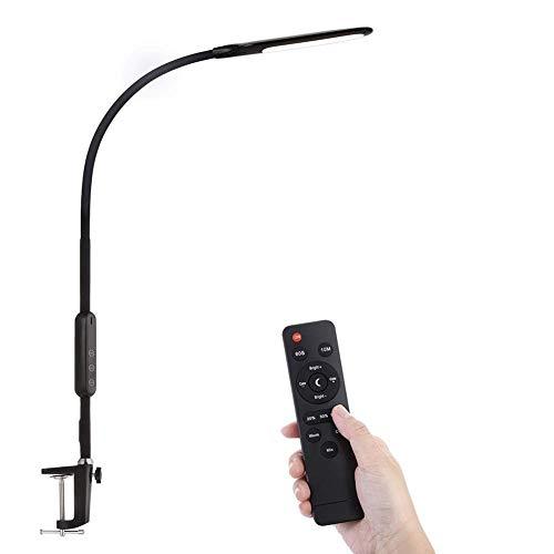 Z·Bling Flexo LED Lámpara Escritorio,Lampara De Mesa con Pinza Luz de Lectura de Escritorio Lampara de Mesilla de Noche Luz de Trabajo Multifunción Flexible Proteccion Ocular 360° Ajustado
