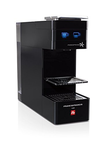 Francis Francis for illy Y3 Coffee Capsule Machine, 1000 W, 19 Bar, Black by Francis Francis by illy