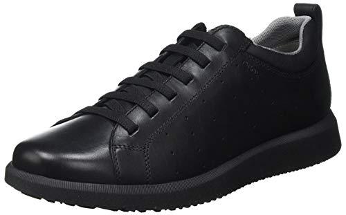 Geox U Errico C, Zapatillas Hombre, Negro, 39 EU