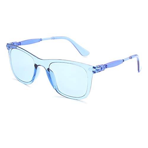 Xniral Neue Mode Unisex Sonnenbrillen Männer und Frauen dekorative Brille Rahmen Vollbild-Farbverlaufslinse(C)