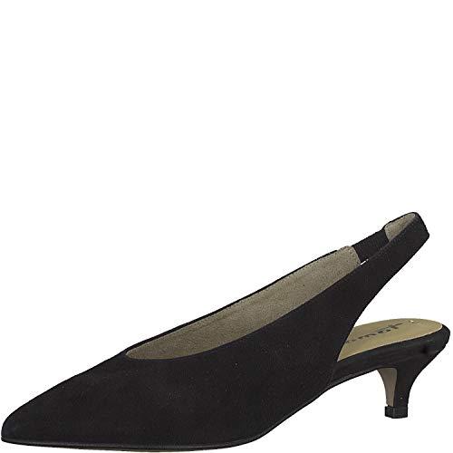 Tamaris 1-1-29504-22 Damen Slingpumps,Slingback Pumps,Knöchelriemchen,Leder,bequem,Komfort,Touch-IT,Black,39 EU
