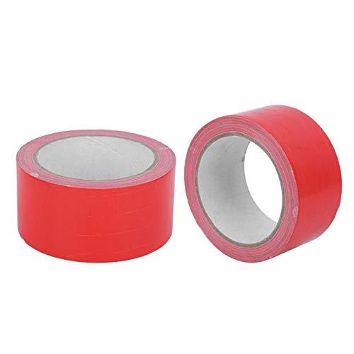 Cinta 2 unids 50 mmx10m de alta viscosidad cinta de tela roja impermeable impermeable a prueba de humedad resistente a la humedad resistente al desgaste de las herramientas de reparación de plomería M