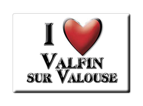 Enjoymagnets VALFIN Sur VALOUSE (39) Souvenir IMANES DE Nevera Francia Haute Normandie IMAN Fridge Magnet Corazon I Love